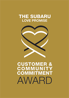 The 2019 Subaru Love Promise Customer and Community Commitment Award